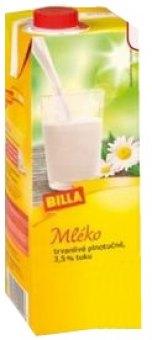 Trvanlivé mléko Billa - 3,5% plnotučné
