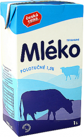 Mléko trvanlivé Česká cena - 1,5% polotučné