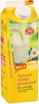 Mléko čerstvé Billa - 3,5% plnotučné