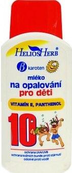 Mléko dětské na opalování OF 10 Helios Herb