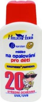 Mléko dětské na opalování OF 20 Helios Herb