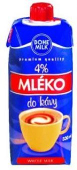 Mléko do kávy 4% Bohemilk