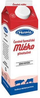 Mléko farmářské Moravia - 3,6% plnotučné