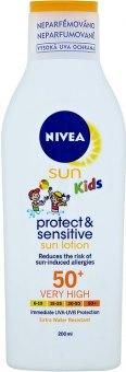Mléko na opalování dětské OF 50+ Protect&Sensitive Sun Nivea