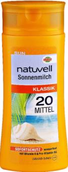 Mléko na opalování kokosové OF 20 Natuvell
