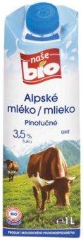 Mléko Naše Bio - 3,5% plnotučné