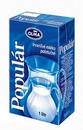 Trvanlivé mléko Populár - 1,5% polotučné