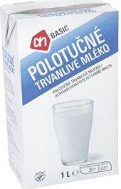 Trvanlivé mléko Basic - 1,5% polotučné