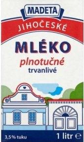 Mléko trvanlivé Jihočeské Madeta - 3,5% plnotučné