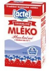 Mléko trvanlivé Lactel Kunín - 3,5% plnotučné