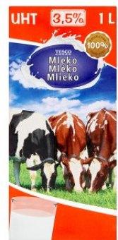 Trvanlivé mléko Tesco - 3,5% plnotučné