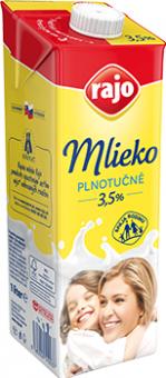 Mléko trvanlivé Rajo - 3,5% plnotučné