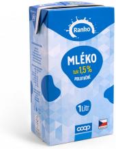 Mléko trvanlivé Ranko - polotučné 1,5%