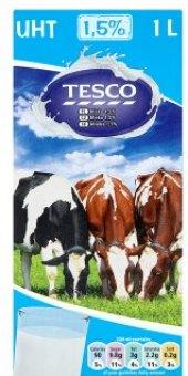 Trvanlivé mléko Tesco - 1,5% polotučné