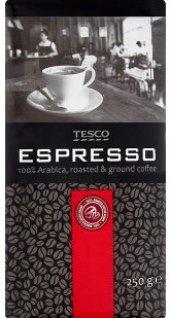 Mletá káva Espresso Tesco