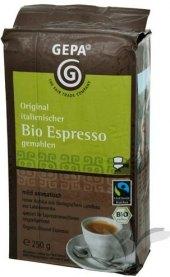Mletá káva Espresso bio Gepa