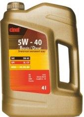 Motorový olej 5W - 40 Cinol Benzin / Diesel
