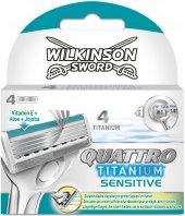 Náhradní hlavice pánské Sensitive Titanium Quattro Wilkinson