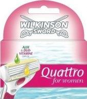 Náhradní hlavice dámské Quattro Wilkinson