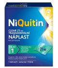 Náplast nikotinová 21 mg Clear NiQuitin