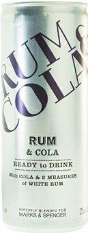 Nápoj míchaný Rum a Cola Marks & Spencer