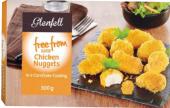 Nugetky kuřecí bez lepku mražené Free From Glenfell