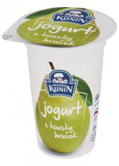 Ochucený jogurt s kousky ovoce Kunín
