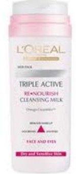 Balíček oční krém + čistící mléko Triple Active L'Oréal