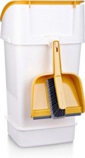Odpadkový koš se smetáčkem a lopatkou Clean Kit Tescoma