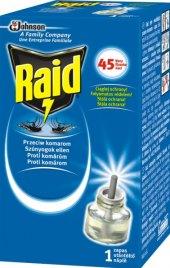 Odpařovač elektrický proti komárům 45 nocí Raid - náplň