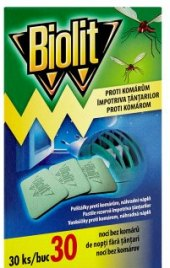 Odpařovač elektrický proti komárům suchý Biolit - náplň
