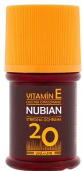 Olej na opalování OF 20 Nubian