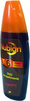 Olej na opalování ve spreji OF 6 Nubian
