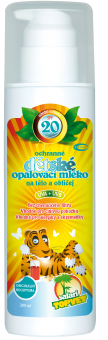 Mléko na opalování dětské OF 20 Safari Topvet