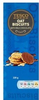 Sušenky polomáčené ovesné Tesco