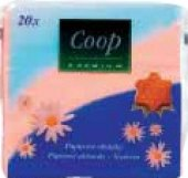 Ubrousky papírové barevné Coop Premium