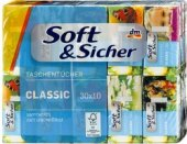 Kapesníčky papírové 4vrstvé Soft&Sicher