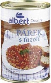Párek s fazolí Albert