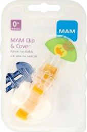 Pásek na dudlík s krytkou na savičku Clip&Cover MAM