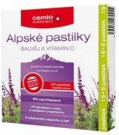Pastilky alpské proti bolesti v krku Cemio