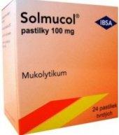 Pastilky k léčbě dýchacích cest Solmucol