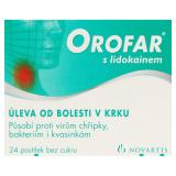 Pastilky proti bolesti v krku Orofar