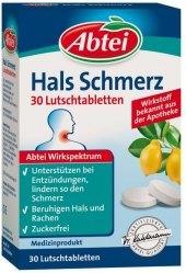 Pastilky proti bolesti v krku Abtei