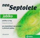 Pastilky proti bolesti v krku Neo Septolete