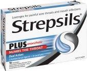 Pastilky proti bolesti v krku Plus Strepsils
