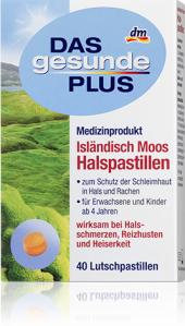 Pastilky proti kašli Das gesunde Plus