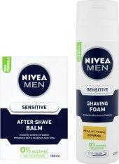 Pěna na holení a balzám po holení Nivea Men Sensitive