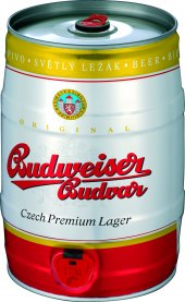 Pivo světlý ležák 12° Budweiser Budvar - soudek
