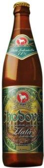 Pivo světlý ležák Zlatá 11° Chodovar