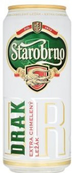 Pivo světlý ležák Extra chmelený Drak Starobrno